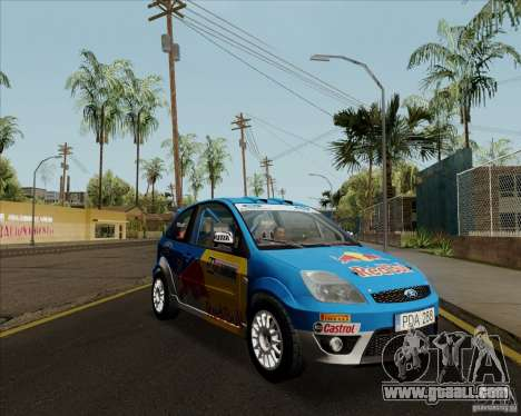 Ford Fiesta ST Rally for GTA San Andreas back left view