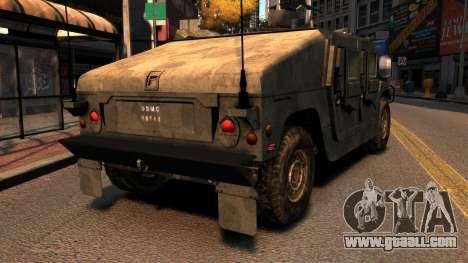 HMMWV M1114 for GTA 4 back left view