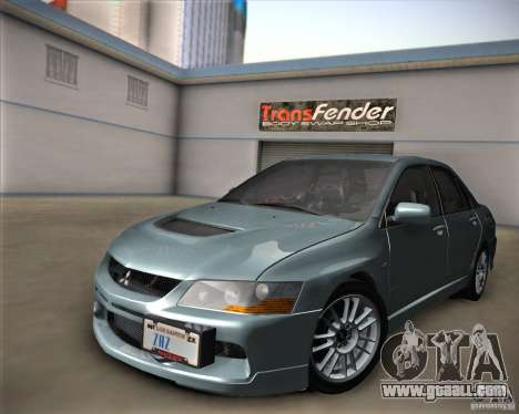 Mitsubishi Lancer Evolution IX Tunable for GTA San Andreas right view