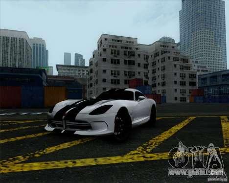 Dodge Viper SRT 2013 for GTA San Andreas