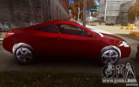 Pontiac G6 for GTA 4 inner view