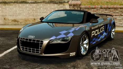 Audi R8 GT Spyder 2012 for GTA 4