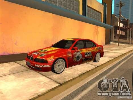 BMW 5-er E39 v2 for GTA San Andreas left view