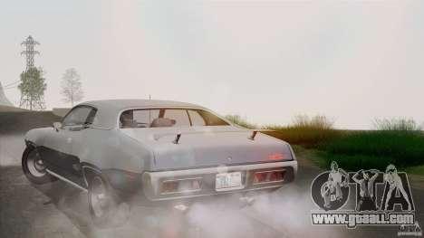 Plymouth GTX 426 HEMI 1971 for GTA San Andreas bottom view