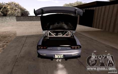Mazda RX-7 Hellalush for GTA San Andreas engine