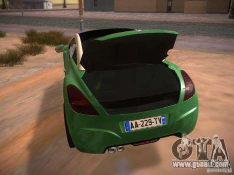 Peugeot RCZ 2010 for GTA San Andreas side view