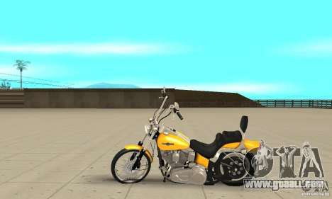 Harley Davidson softail Skin 1 for GTA San Andreas left view