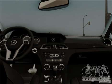 Mercedes Benz C63 AMG Coupe Presiden Indonesia for GTA San Andreas inner view