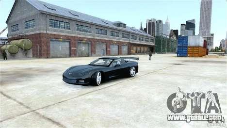 Chevrolet Corvette C6 Convertible v1.0 for GTA 4 side view