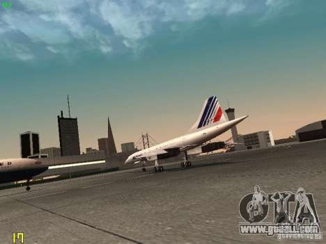 Aerospatiale-BAC Concorde Air France for GTA San Andreas right view