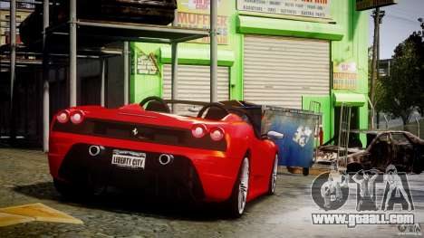 Ferrari F430 Scuderia Spider for GTA 4 upper view