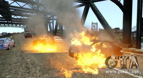 Explosion & Fire Tweak 1.0 for GTA 4 third screenshot