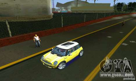 Mini Cooper S for GTA Vice City back view
