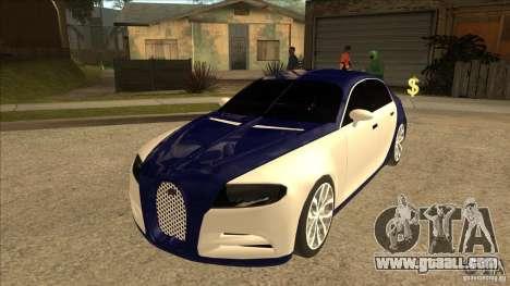 Bugatti Galibier 16c for GTA San Andreas