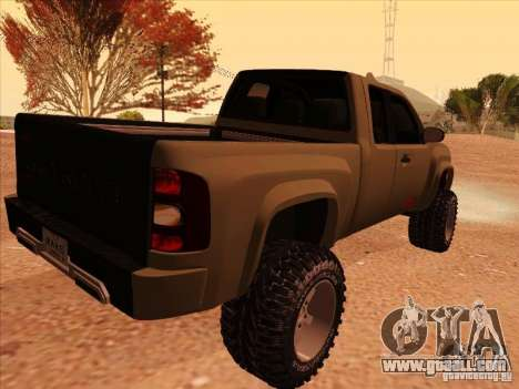 Chevrolet Silverado ZR2 for GTA San Andreas back left view