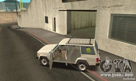 Jeep Grand Cherokee 1986 for GTA San Andreas upper view
