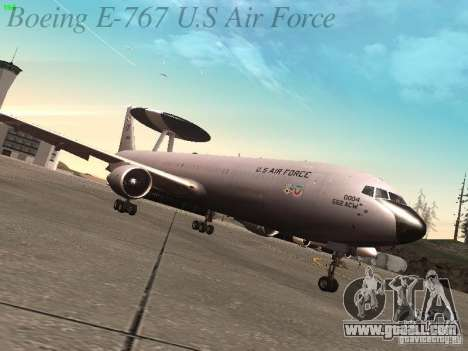 Boeing E-767 U.S Air Force for GTA San Andreas back left view