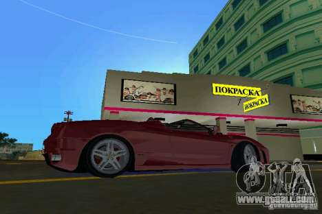 Ferrari F430 Spider 2005 for GTA Vice City left view