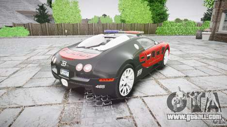Bugatti Veyron 16.4 Police [EPM/ELS] for GTA 4 side view