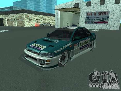 Subaru Impreza for GTA San Andreas upper view