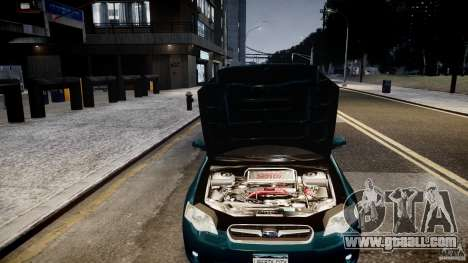 Subaru Legacy B4 GT for GTA 4 back view