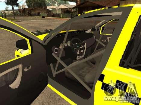 Dacia Sandero Speed Taxi for GTA San Andreas side view