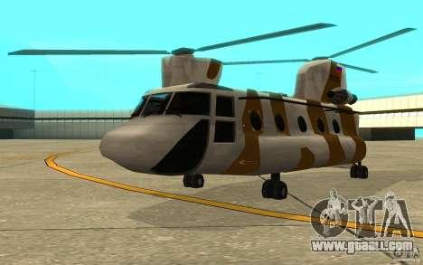 GTA SA Chinook Mod for GTA San Andreas left view