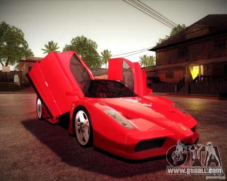 Ferrari Enzo for GTA San Andreas back view