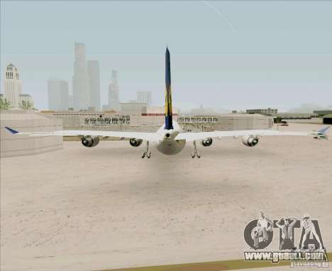 Airbus A-340-600 Lufthansa for GTA San Andreas back left view