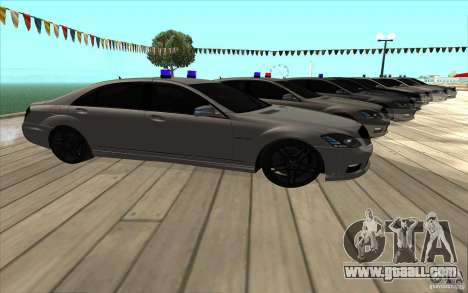 Mercedes-Benz S65 AMG with flashing lights for GTA San Andreas right view