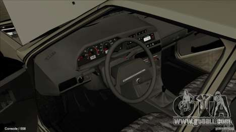 VAZ 2109 for GTA San Andreas inner view