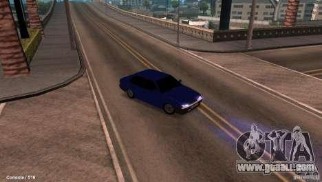 BAZ 21099 for GTA San Andreas inner view