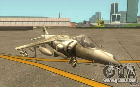 Harrier GR7 for GTA San Andreas left view