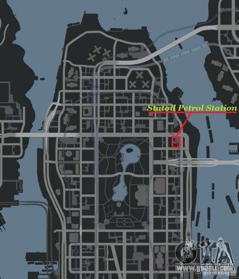Statoil Petrol Station for GTA 4 forth screenshot