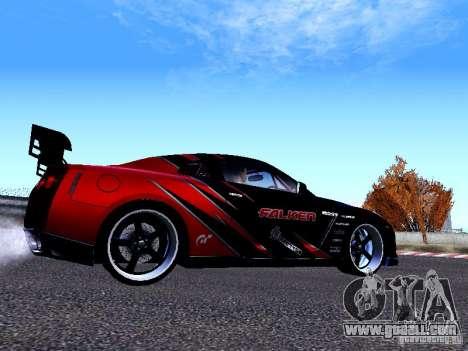 Nissan Skyline R35 Drift Tune for GTA San Andreas back left view