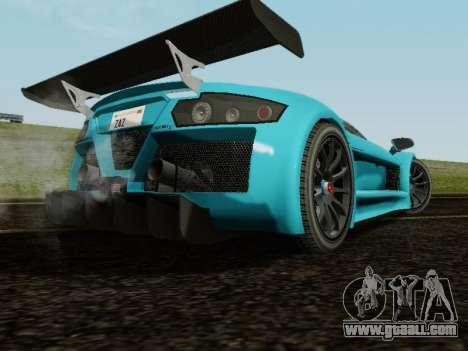 Gumpert Apollo S 2012 for GTA San Andreas back view