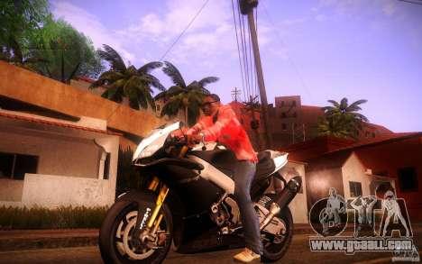 Aprilia RSV-4 Black Edition for GTA San Andreas left view
