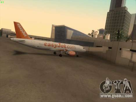Airbus A320-214 EasyJet for GTA San Andreas bottom view