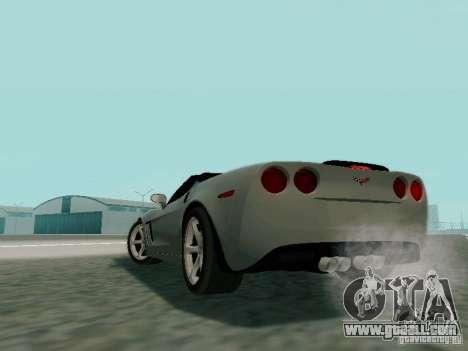 Chevrolet Corvette C6 GS Convertible 2012 for GTA San Andreas inner view
