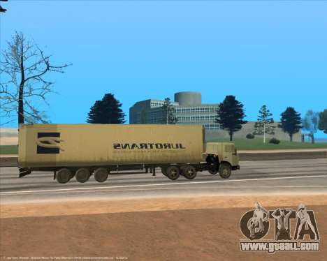 Semi-trailer for GTA San Andreas left view