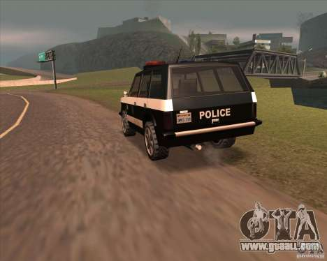 Huntley Police Patrol for GTA San Andreas back left view