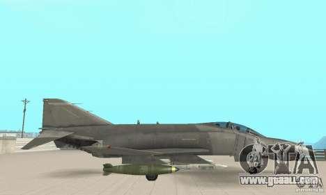 F-4E Phantom II for GTA San Andreas right view