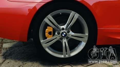 BMW M6 F13 2013 v1.0 for GTA 4 bottom view