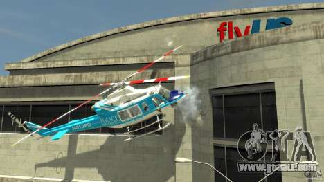 NYPD Bell 412 EP for GTA 4 back left view