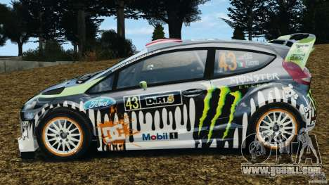 Ford Fiesta RS WRC Gymkhana v1.0 for GTA 4 left view