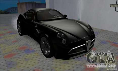Alfa Romeo 8C Competizione for GTA San Andreas left view