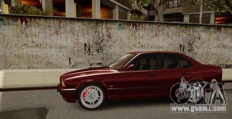BMW M5 (E34) 1995 v1.0 for GTA 4 back view