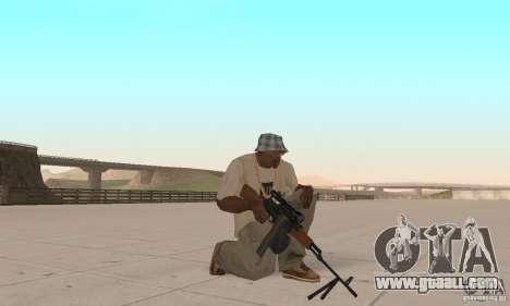 The portable machine gun Kalashnikov for GTA San Andreas third screenshot