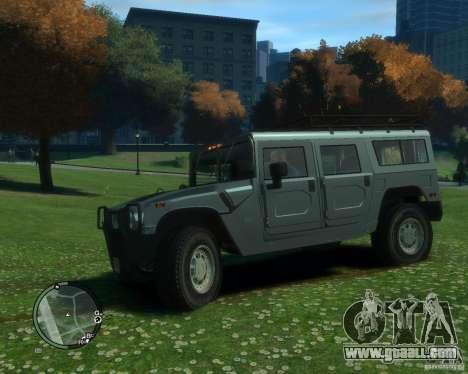 Hummer H1 for GTA 4 back left view