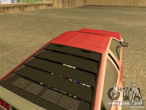 DeLorean DMC-12 V8 for GTA San Andreas back left view